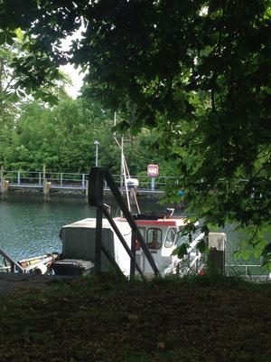 Nahe der Schleuse Kiel-Holtenau