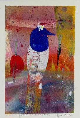Guardiano silenzioso, 2016, tecnica mista, 13 x 19 cm