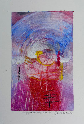 Appeared arc, 2016, tecnica mista, 10 x 14,5 cm