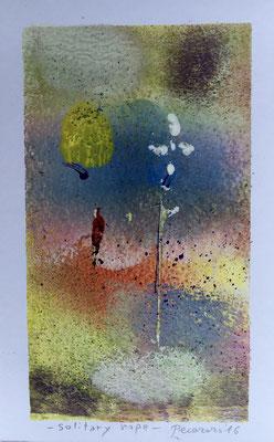 Solitary hope, 2016, tecnica mista, 9 x 14 cm
