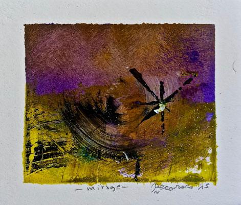 Mirage, 2015, tecnica mista, 11,5 x 10 cm