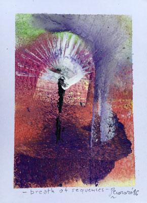 Breath of sequences, 2016, tecnica mista, 8,5 x 11,5 cm