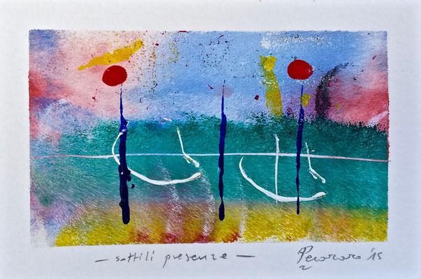 Sottili presenze, 2015, tecnica mista, 14 x 9,5 cm