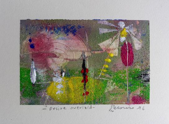 Desire overlaid, 2016, tecnica mista, 11 x 14,5 cm