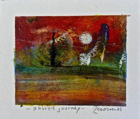 Shared journey, 2015, tecnica mista, 12 x 10 cm