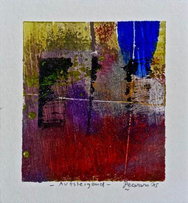 Aufsteigend, 2015, tecnica mista, 10,5 x 11,5 cm