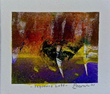 Sequence Luft, 2015, tecnica mista, 11,5 x 10 cm