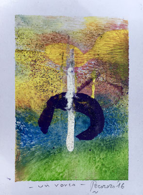 Un varco, 2016, tecnica mista, 8,5 x 11,5 cm