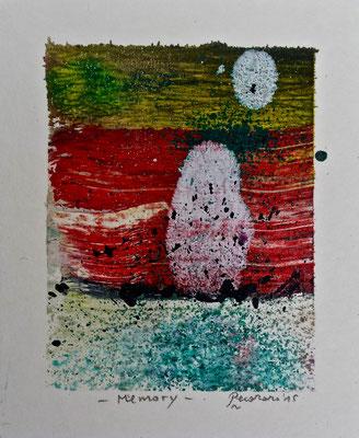 Memory, 2015, tecnica mista, 9 x 11 cm