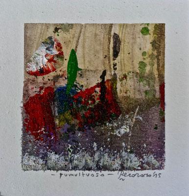 Tumultuoso, 2015, tecnica mista, 10 x 10 cm
