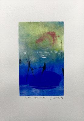 Libere spazialità, 2016, tecnica mista, carta 17,5 x 25 cm