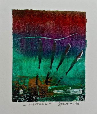 Sequenza, 2015, tecnica mista, 10 x 11 cm
