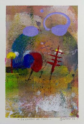 La couleur de l'oeil, 2016, tecnica mista, 13 x 19 cm
