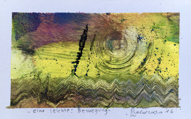 Eine leichte Bewegung, 2016, tecnica mista, 14,5 x 8,5 cm
