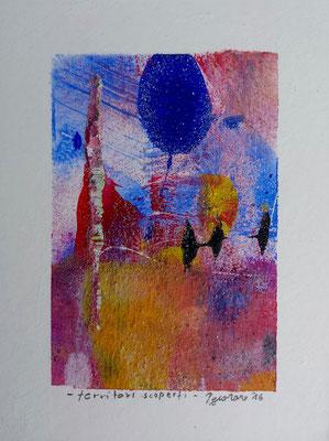 Territori scoperti, 2016, tecnica mista, 11 x 14,5 cm