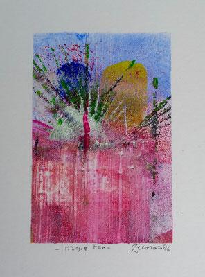 Magie Fan, 2016, tecnica mista, 11 x 14,5 cm
