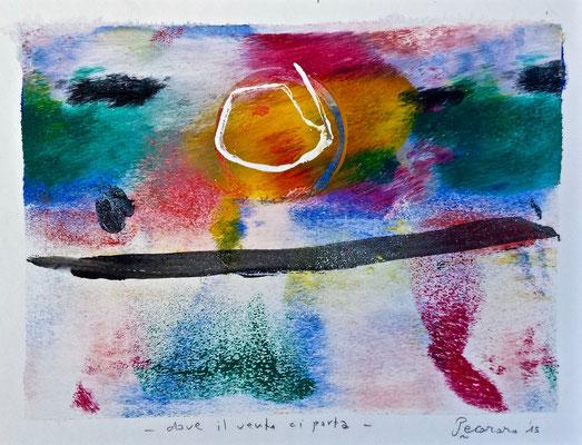 Dove il vento ci porta, 2015, tecnica mista, 16 x 12,5 cm