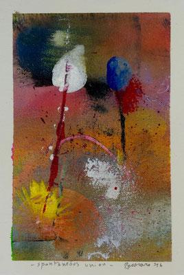 Spontaneous union, 2016, tecnica mista, 13 x 19 cm