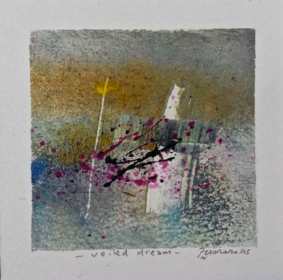 Veiled dream, 2015, tecnica mista, 11,5 x 11 cm
