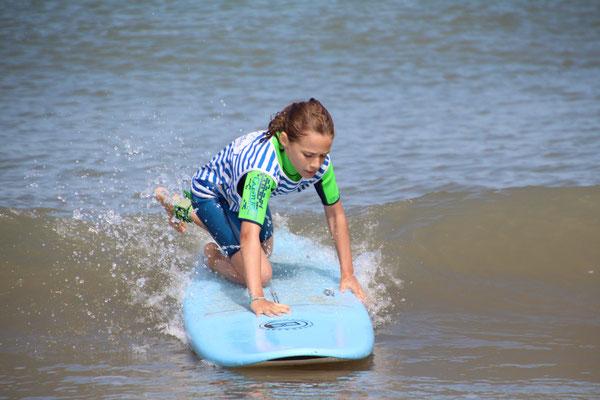 Se redresser pousser par une vague