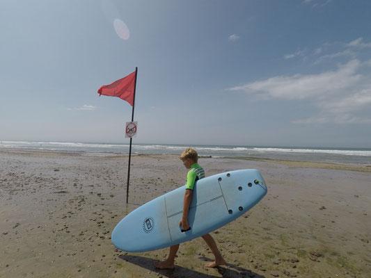 Soulac surf school, Espace sécurisé vers la zone de surf