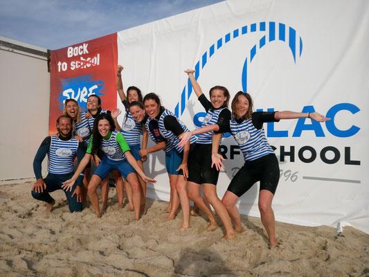 Enterrement de vie de jeune fille / garçon avec Soulac surf school
