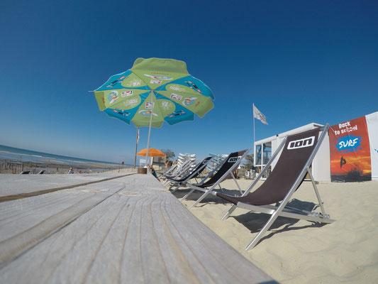La zone chilliennes face à l'océan - le soulac surf café