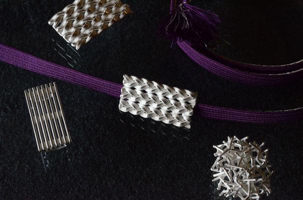 帯留                               Material : silver 925
