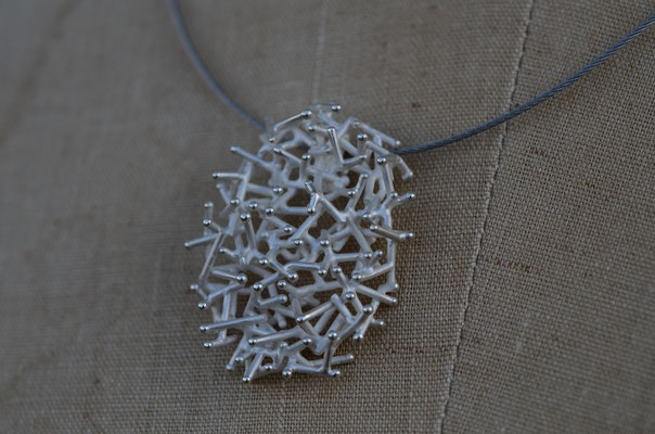 Necklace #5 .                      Material : silver 925 / Size : 40mm × 30mm