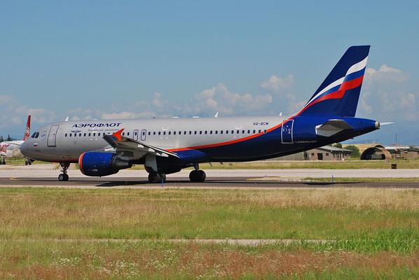 VQ-BCM A320-214 3923 Aeroflot @ Aeroporto di Verona 25.06.2018  © Piti Spotter Club Verona