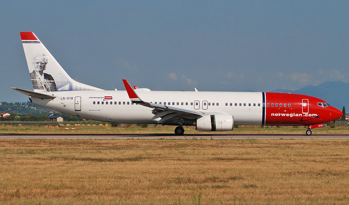 LN-DYB B737-8JP 39163/3054 Norwegian @ Aeroporto di Verona 22.08.2018  © Piti Spotter Club Verona