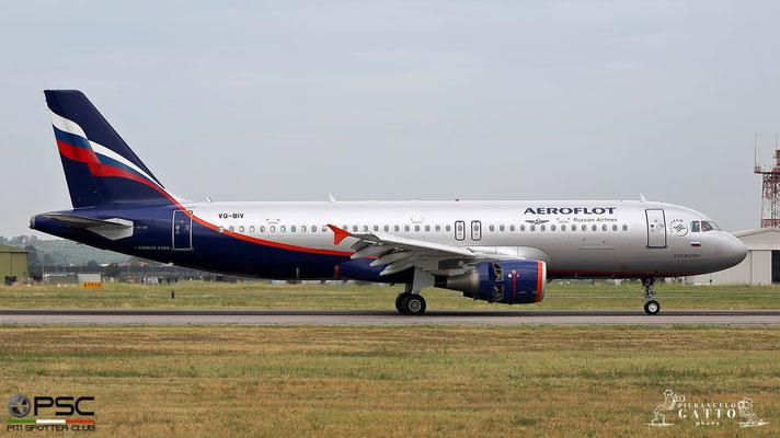 VQ-BIV A320-214 4649 Aeroflot @ Aeroporto di Verona 14.08.2018  © Piti Spotter Club Verona