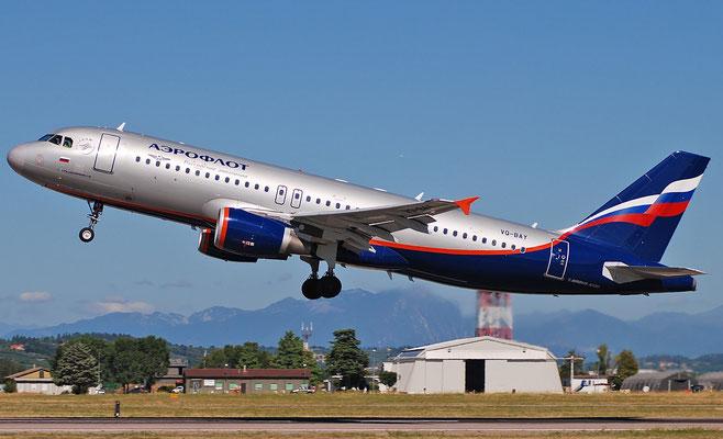 VQ-BAY A320-214 3786 Aeroflot @ Aeroporto di Verona 27.08.2018  © Piti Spotter Club Verona