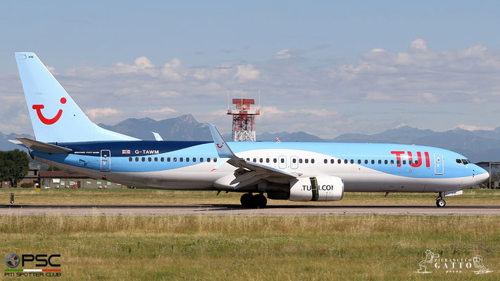 G-TAWM B737-8K5 37249/4360 TUI Airways @ Aeroporto di Verona 07.07.2018  © Piti Spotter Club Verona