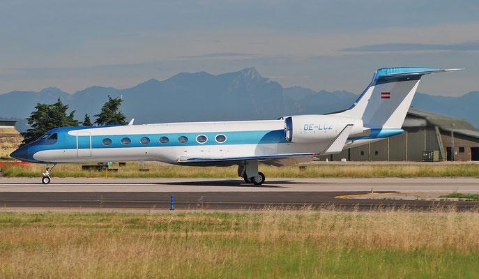 OE-LCZ G550 5562 Avcon Jet @ Aeroporto di Verona 07.2018  © Piti Spotter Club Verona