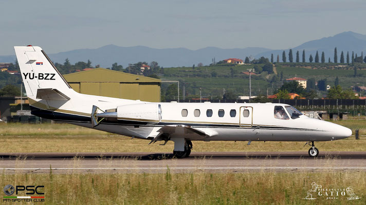 YU-BZZ Ce550 Bravo 550-0924 Air Pink @ Aeroporto di Verona 07.07.2018  © Piti Spotter Club Verona