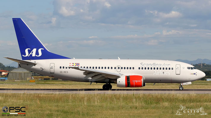SE-RES B737-7BX 30737/687 SAS Scandinavian Airlines - Scandinavian Airlines System @ Aeroporto di Verona 07.07.2018  © Piti Spotter Club Verona