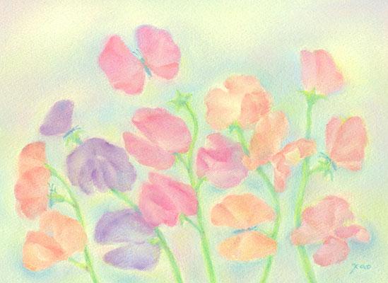 お花のちょうちょう