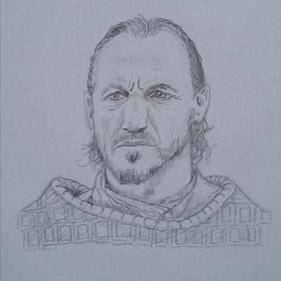 Bronn vom Schwarzwasser - Game of Thrones (Bleistift auf Papier)