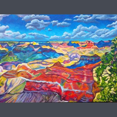 2017-06 bis 09 Grand Canyon (Acryl auf Leinwand, 160 x 120 cm)