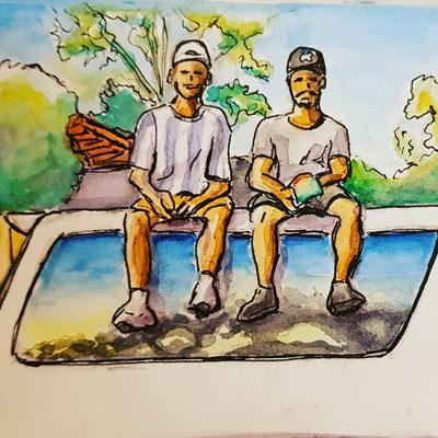 Urban Sketching Work and Travel