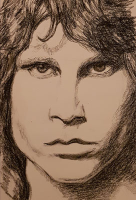 Jim Morrison (The Doors), Kohle auf Papier