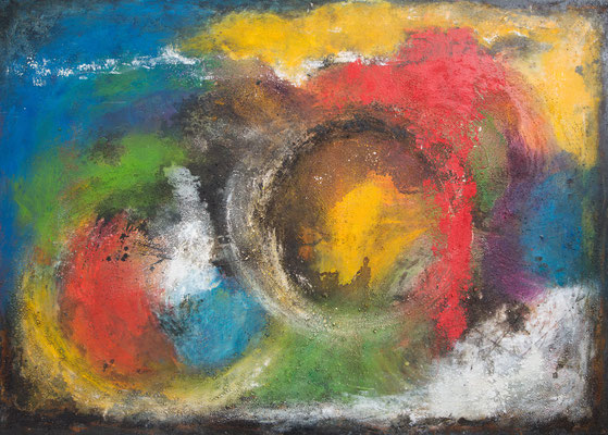 140x100x4cm auf Leinwand - colourful1 - 1650