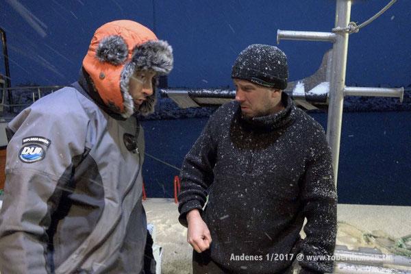 Uli und Sven diskutieren über die bevorstehende Tour - 1/2017 © Robert Hansen