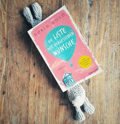 Cheeky bookmark: Der Osterhase liest wohl grad...