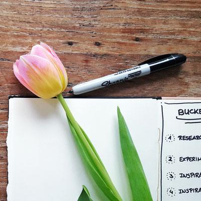 ...am vierten Tag einmal eine Tulpe für das Bucket List Bild ausborgen...