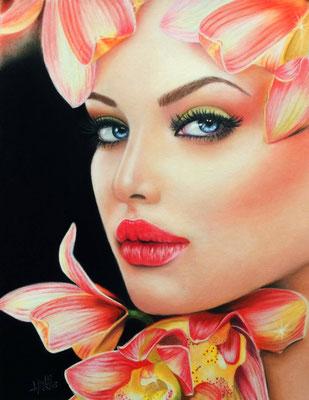Orquídea - Pastel - 21x30