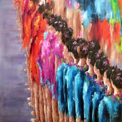 Rítmica - Óleo sobre lienzo – 100 x 100
