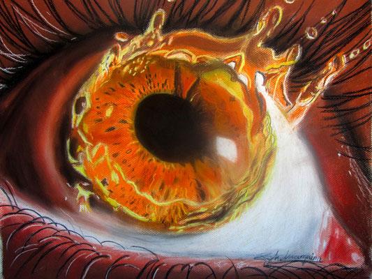 Explosión visual (pastel sobre papel Canson), 50 x 40