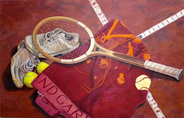 Tenis: 63x95. Oleo lienzo